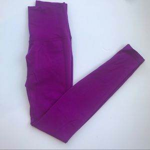 Lululemon | Wunder Under purple 4 full length hi